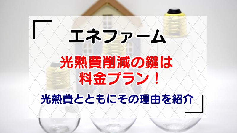 【エネファーム】光熱費削減の鍵は料金プラン!光熱費とともにその理由を紹介
